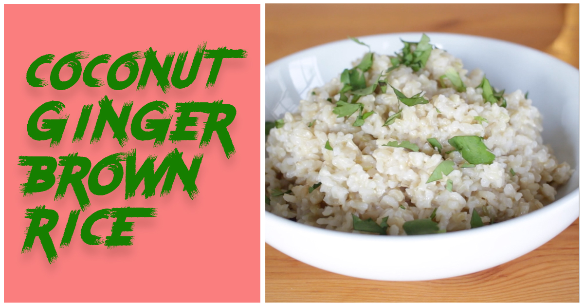 Coconut-Ginger Brown Rice - Eat. Fit. Fuel.